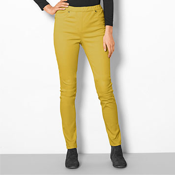 Pantalon Jegging Coloris Anis