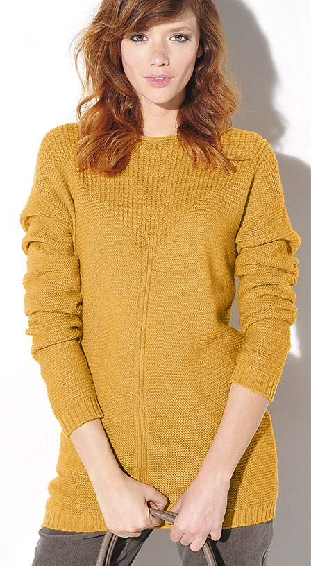 Pull Coloris Moutarde