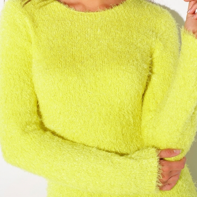 Pull col rond maille douceur  : Vue zoom matière