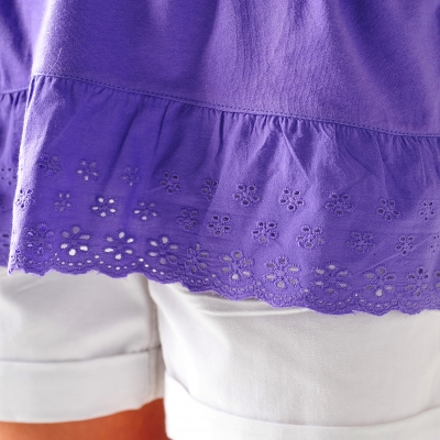 Tee-shirt broderie anglaise  : Vue zoom matière