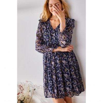 Robe chemise manches courtes