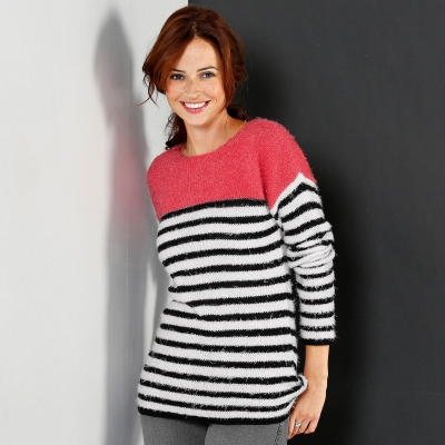 Pull rayé maille douceur