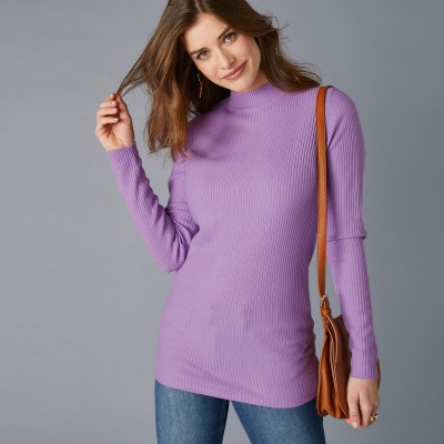 Pull col montant long. 72 cm