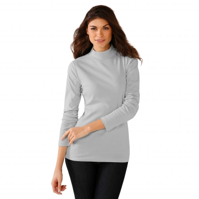 Tee-shirt col montant manches longues