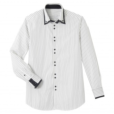 Chemise manches longues double col