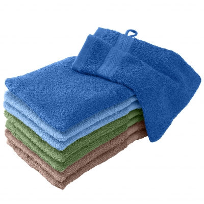 Gant de toilette camaïeu nature - lot de 8