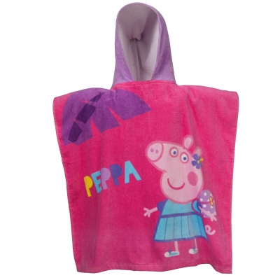 Cape de bain Peppa Pig® Rose: Vue 1