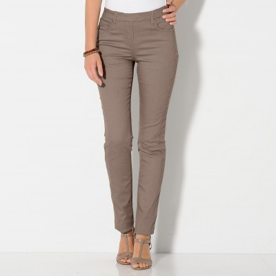Pantalon stretch coutures affinantes  : Vue 1