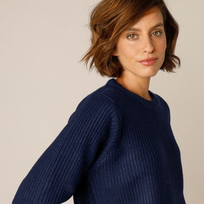 Pull col rond maille anglaise  : Vue 1