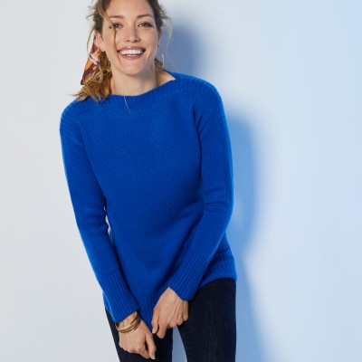 Pull jacquard manches longues  : Vue 1