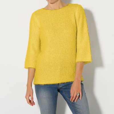 Pull forme boîte maille douceur Anis: Vue 1