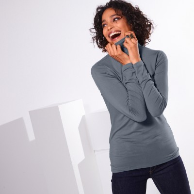 Sous-pull stretch viscose Anthracite: Vue 1