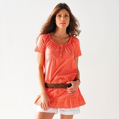 Tee-shirt broderie anglaise  : Vue 1
