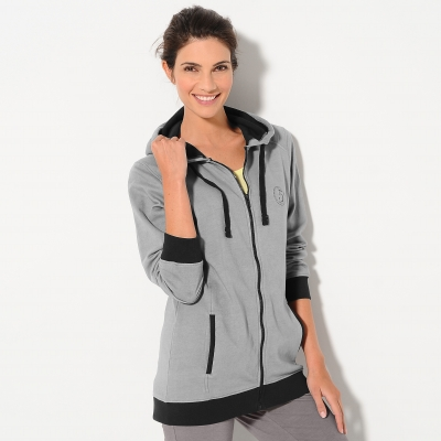 Sweat zippé bicolore  : Vue 1