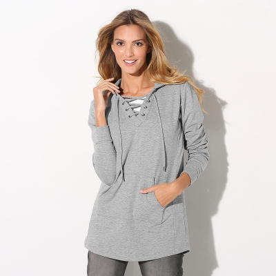 Sweat à capuche Gris chiné: Vue 1