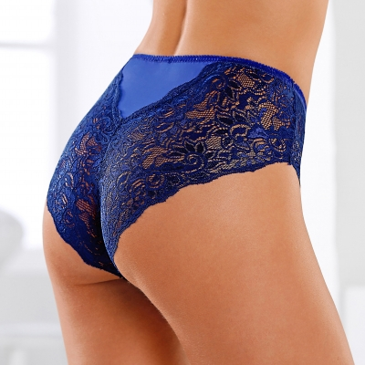 Shorty dentelle bicolore - lot de 2 Indigo / marine: Vue 1