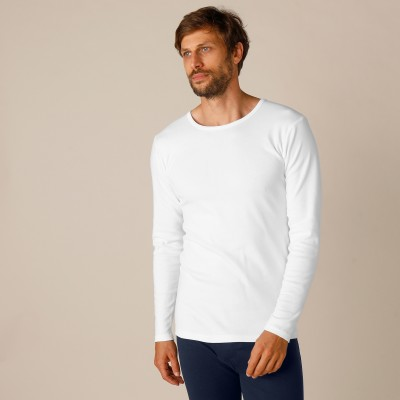Tee-shirt manches longues dos long coton - lot de 2