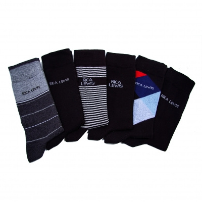 Mi-chaussettes assorties - lot de 6 paires