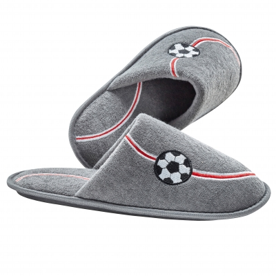 Mules ballon football Gris: Vue 1