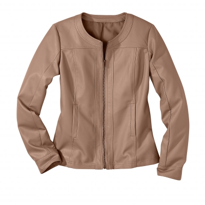 Blouson col rond Taupe: Vue 2