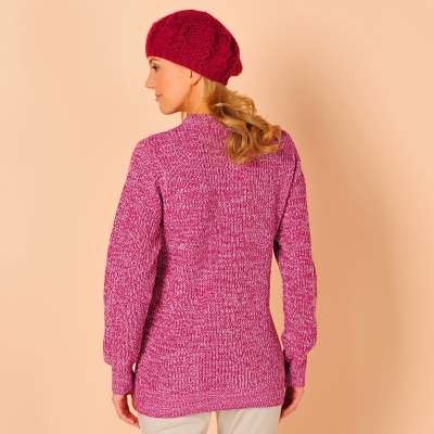 Pull col rond maille anglaise  : Vue 2