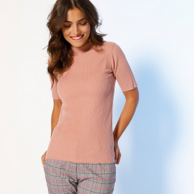 Pull col montant manches courtes  : Vue 2