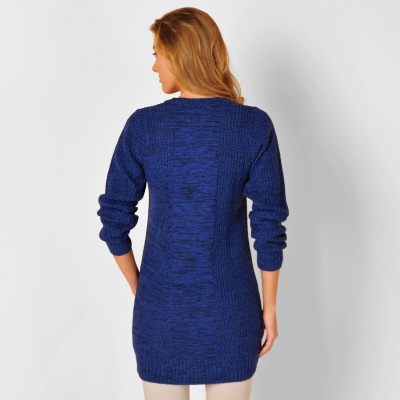 Pull long col rond maille anglaise  : Vue 2
