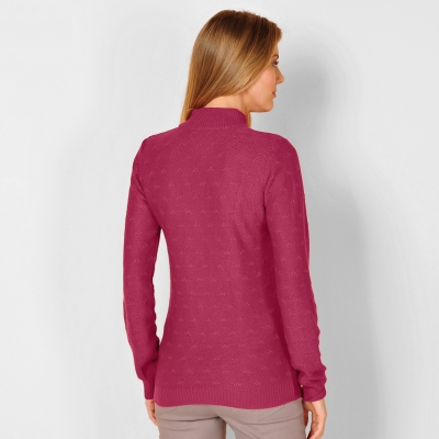 Pull col montant maille fantaisie  : Vue 2