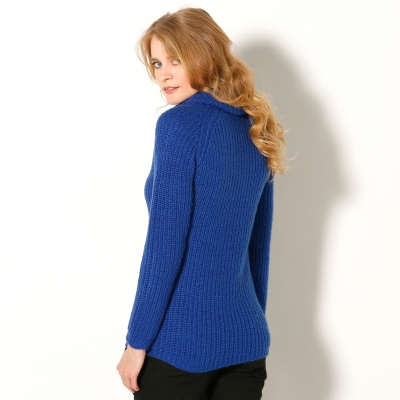 Pull col boule maille anglaise  : Vue 2