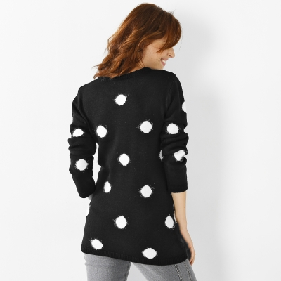 Pull pois maille douceur  : Vue 2