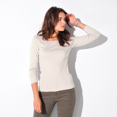 Tee-shirt col rond manches longues  : Vue 2