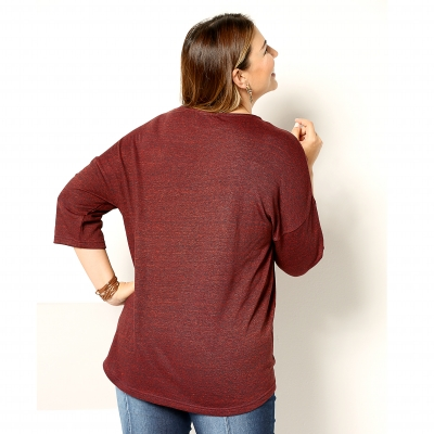 Tee-shirt manches 3/4 Rouille: Vue 2