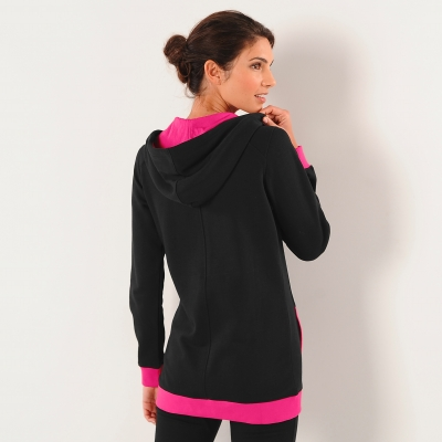 Sweat zippé bicolore  : Vue 2