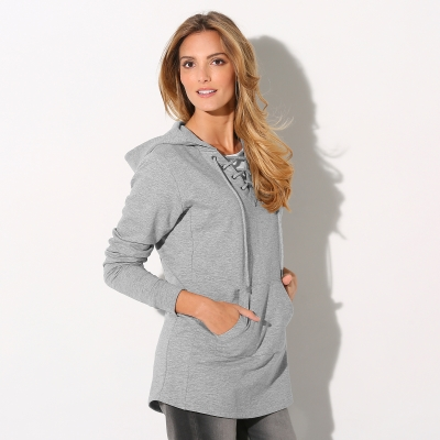 Sweat à capuche Gris chiné: Vue 2