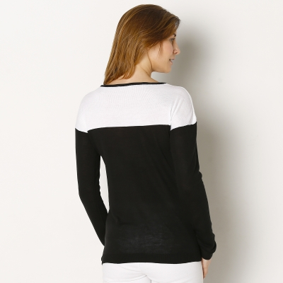 Pull bicolore manches longues  : Vue 2