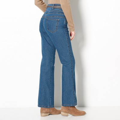 Jean taille haute bootcut petite stature Stone: Vue 2