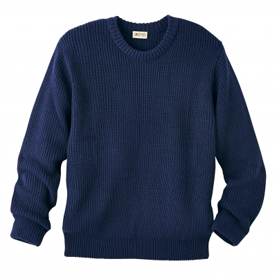 Pull manches longues maille anglaise col rond  : Vue 2