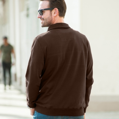 Sweat zippé Marron: Vue 2