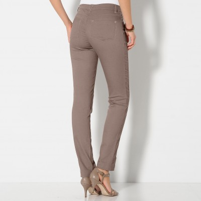Pantalon stretch coutures affinantes  : Vue 3