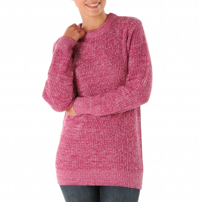 Pull col rond maille anglaise  : Vue 3