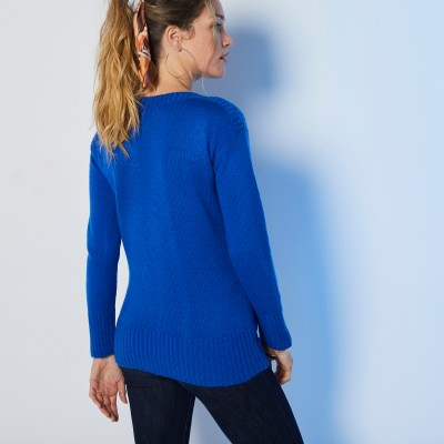 Pull jacquard manches longues  : Vue 3