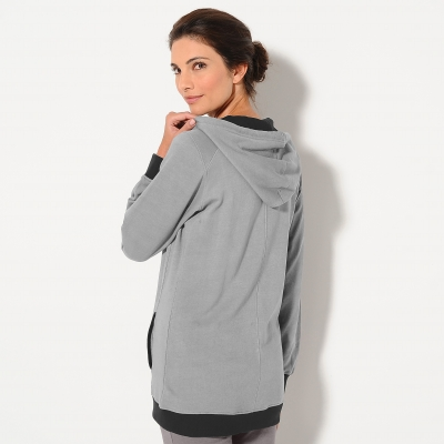 Sweat zippé bicolore  : Vue 3