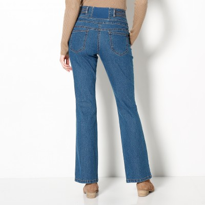 Jean taille haute bootcut petite stature Stone: Vue 3