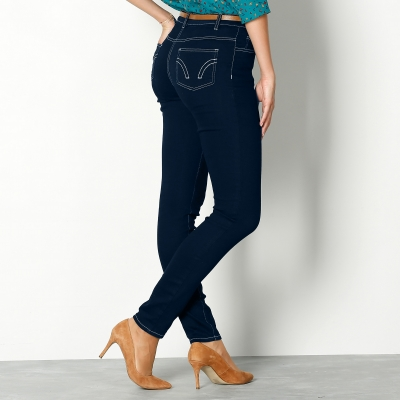 Jean fuselé ultra-stretch Dark blue: Vue 3