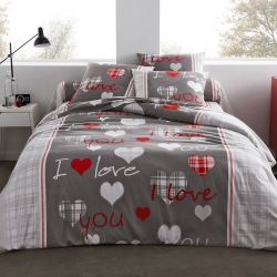 Parure de lit I Love You polyester-coton