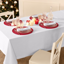 Set de table rond festif - lot de 4