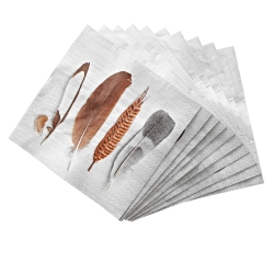 "Serviette papier ""plumes"" - lot de 20"
