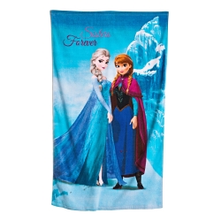 "Drap de bain velours imprimé ""Frozen Happy""®"