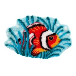 Tapis de bain poisson-clown