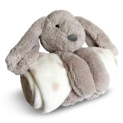 Peluche lapin + plaid polaire